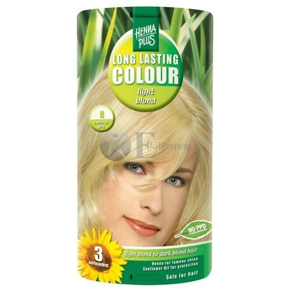 Henna plus long lasting colour light blond 8